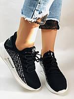 Lonza. Стильные женские кеды-кроссовки черный.Вязанный текстиль с сеткой. Размер 36.37.38.39.40, фото 5