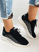 Lonza. Стильные женские кеды-кроссовки черный.Вязанный текстиль с сеткой. Размер 36.37.38.39.40, фото 6
