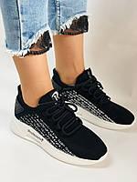 Lonza. Стильные женские кеды-кроссовки черный.Вязанный текстиль с сеткой. Размер 36.37.38.39.40, фото 9