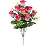 Штучні квіти букет бутони троянд, 62cm(10 шт в уп), фото 2