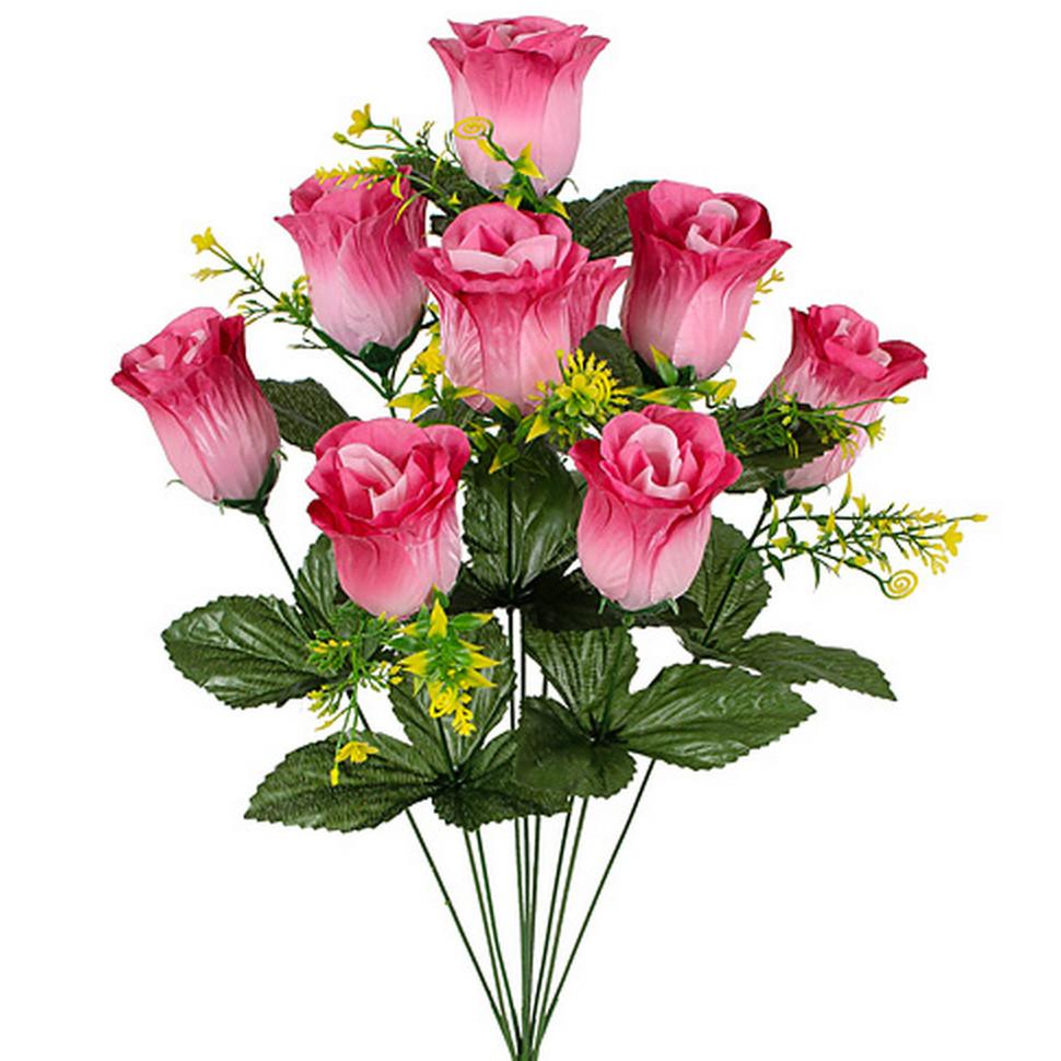 Штучні квіти букет бутони троянд, 62cm(10 шт в уп)