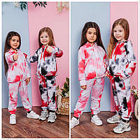 Дитячий спортивний костюм для дівчинки, з капюшоном , тай дай Діна | на зріст 92-116р.