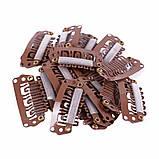 Професійні шпильки (кліпси) для накладних волосся 2,8 mm колір світло-коричневий, фото 2
