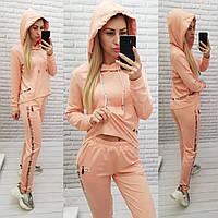 Спортивный женский трикотажный костюм, цвет персик, арт. 420
