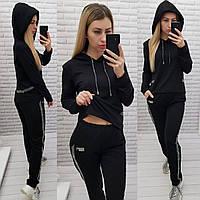 Спортивный женский трикотажный костюм, цвет ЧЁРНЫЙ, арт. 420