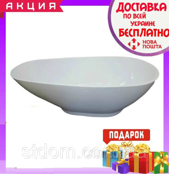Отдельностоящая овальная ванна 170х80 см Veronis VP-177 белая