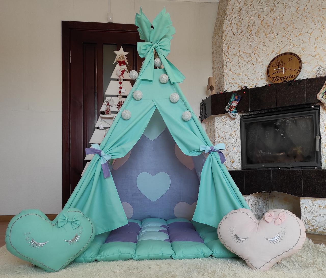 Вигвам Sweet dreams БОНБОН Полный комплект! Детский вигвам, детская палатка, детский домик