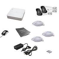Комплект видеонаблюдения IP Uniview 2OUT 2MEGA