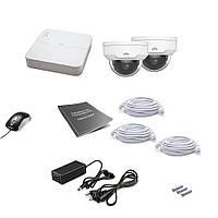 Комплект видеонаблюдения IP Uniview 2DOME 2MEGA