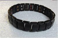 Титановый Магнитный браслет Черный 8486 4в1х2