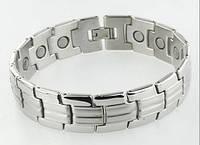 Магнитный титановый браслет 8238 сильвер - 4в1