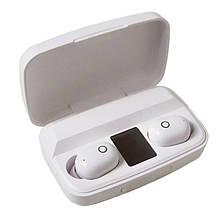 Bluetooth стерео навушники безпровідні c боксом для зарядки Air J16 TWS Original. Колір: білий