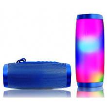 Портативная bluetooth колонка влагостойкая TG-157 Pulse с разноцветной подсветкой. Цвет: синий