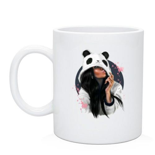 Чашка Дівчина панда