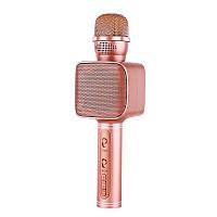 Беспроводной караоке микрофон Magic Karaoke YS-68  с динамиком и разноцветной подсветкой Розовое золото, фото 1