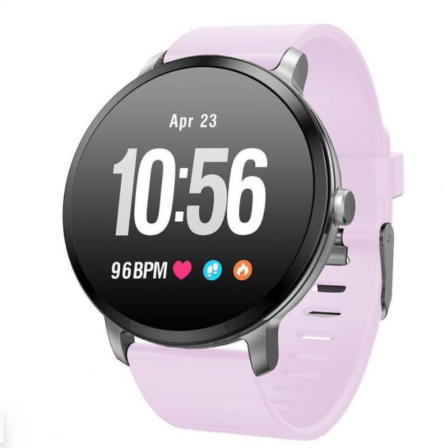 Водонепроникні фітнес годинник Smart Life v11 Pink (MD12971 Pink), Фітнес трекер з лічильником калорій