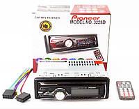 Автомагнитола Pioneer 1DIN MP3 3228D с  RGB подсветкой сьемная панель супердизайн, фото 1