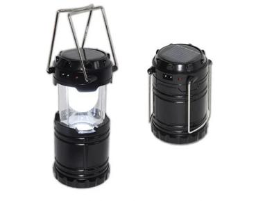 Світлодіодний кемпінговий ліхтар ручний з сонячною батареєю і 6 світлодіодами