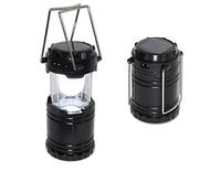 Світлодіодний кемпінговий ліхтар ручний з сонячною батареєю і 6 світлодіодами, фото 1