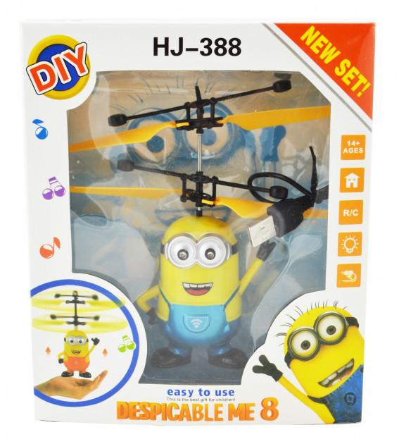 Интерактивная игрушка DIY летающий миньон HJ-388 для детей вертолёт+пульт