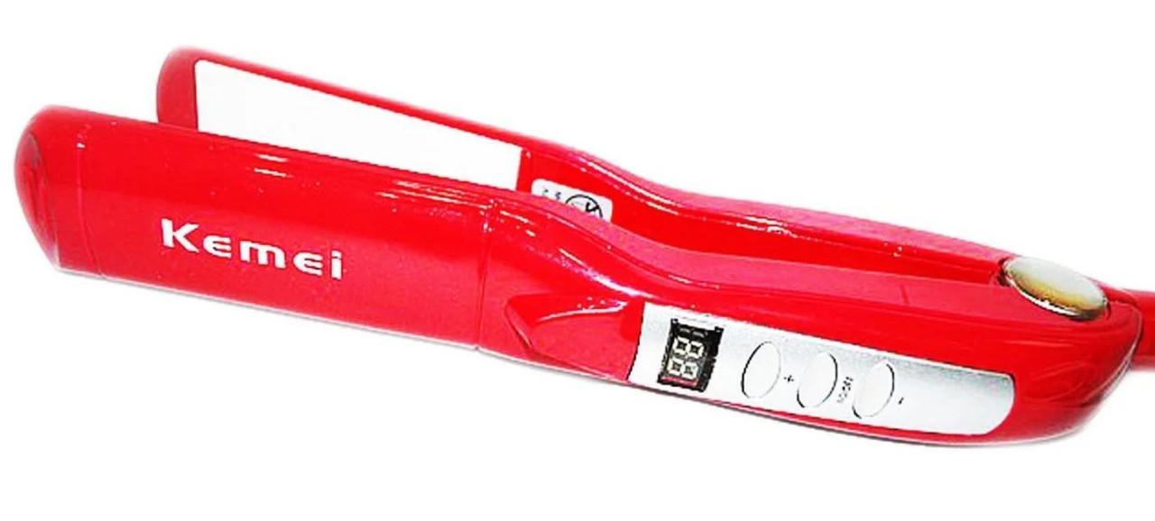 Керамический утюжок выпрямитель для волос с быстрым нагревом 120-220 градусов Kemei ZFQ-KM 1282, фото 2