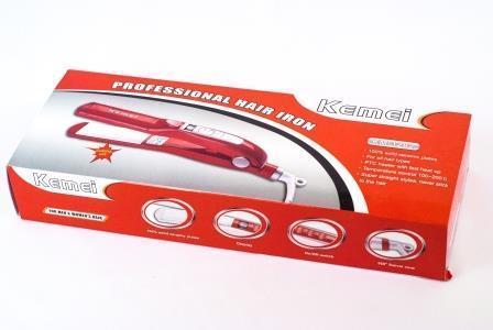 Керамічний праску випрямляч для волосся з швидким нагрівом 120-220 градусів Kemei ZFQ-KM 1282, фото 3