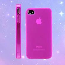 Чехол бампер для iphone 4 4S розовый