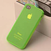 Чехол бампер для iphone 4 4S салатовый