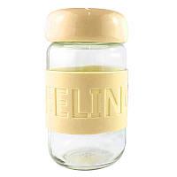 Кружка из стекла в силиконовой защите Sweet Feeling желтая SKL11-203683