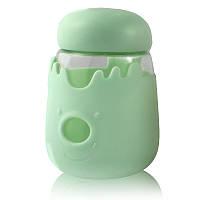 Кружка из стекла с крышкой в силиконовой защите Sweet Feeling зеленая SKL11-203692