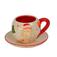 Новогодняя чашка с блюдцем SKL11-208784