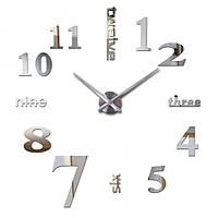 Часы настенные 3D Diy ZH015 Маленькие Серебро SKL79-240785