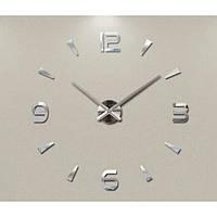 Часы настенные 3D Diy ZH034 Средние Серебро SKL11-240777