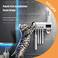 ✨ Дозатор зубной пасты держатель и УФ стерилизатор зубных щеток ✨