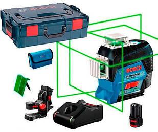 Линейный лазерный нивелир Bosch Professional GLL 3-80 CG + держатель BM1 + акб 12 V + GAL 12V-40 + L-Boxx