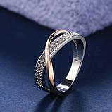 Женское золотистое кольцо с фианитами код 2036, фото 2