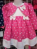 Дитячий нарядний комплект Олена сукню з болеро 2-5 років, фото 5