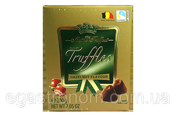Цукерки трюфелі Маітре фундук Maitre Fruffaut hazelnut 200g 15шт/ящ (Код : 00-00003536)
