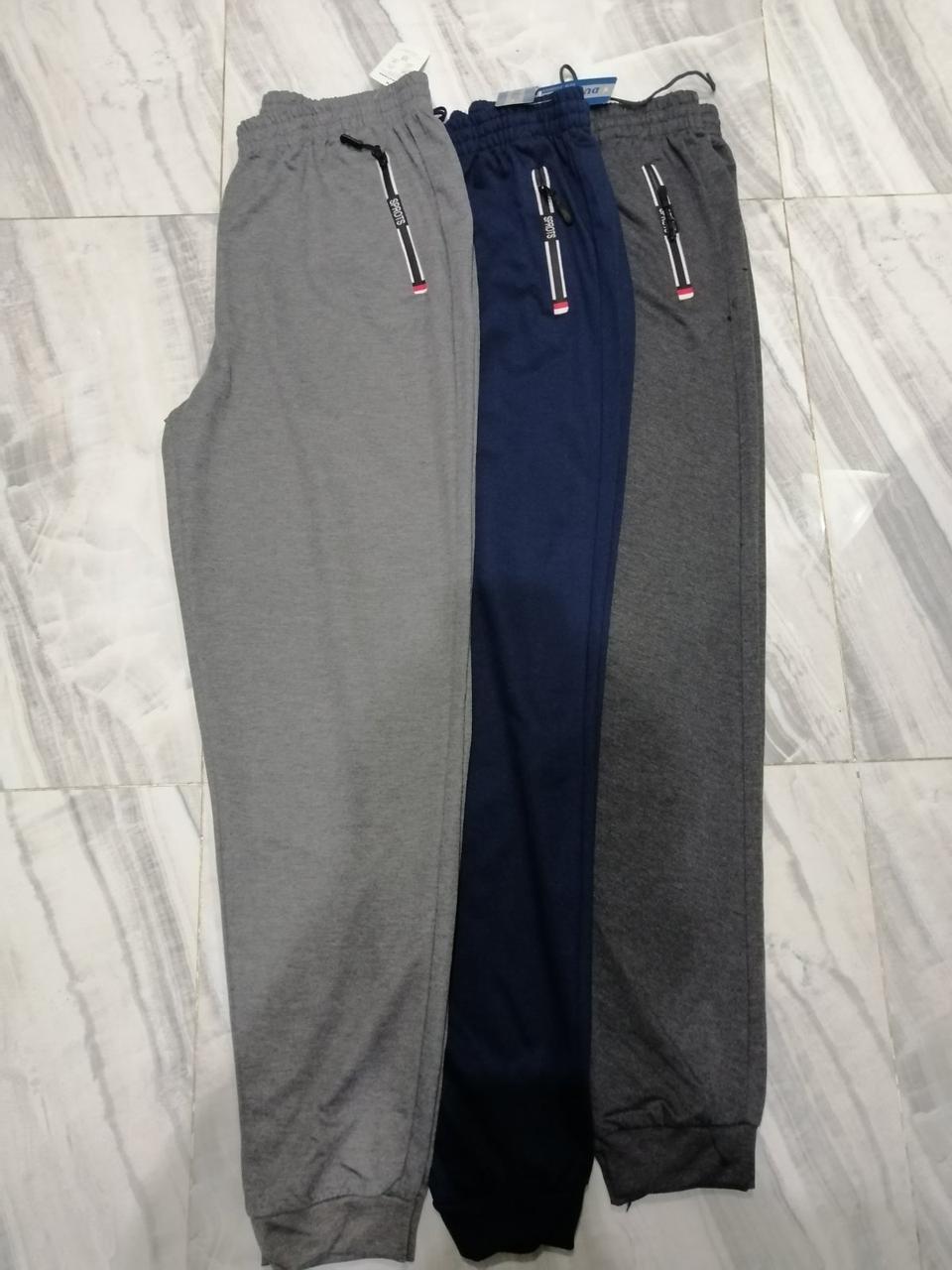 Штаны мужские спортивные трикотаж норма размер XL-5XL ростовка (от 5 штук)