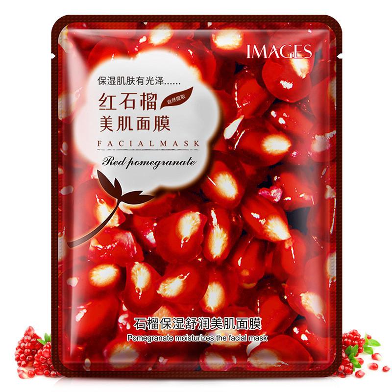 Маска-серветка для особи з гранатом зволожуюча IMAGES Pure Source Pomegranate (40г)