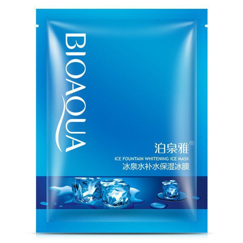 Отбеливающая и освежающая маска на основе ледниковой воды Bioаqua Ice Fountain Whitening Ice Mask, 30г