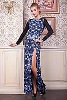 Женское вечернее платье в пол в новогоднем стиле, фото 1