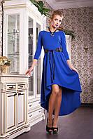 Нарядное женское платье синего цвета, фото 1