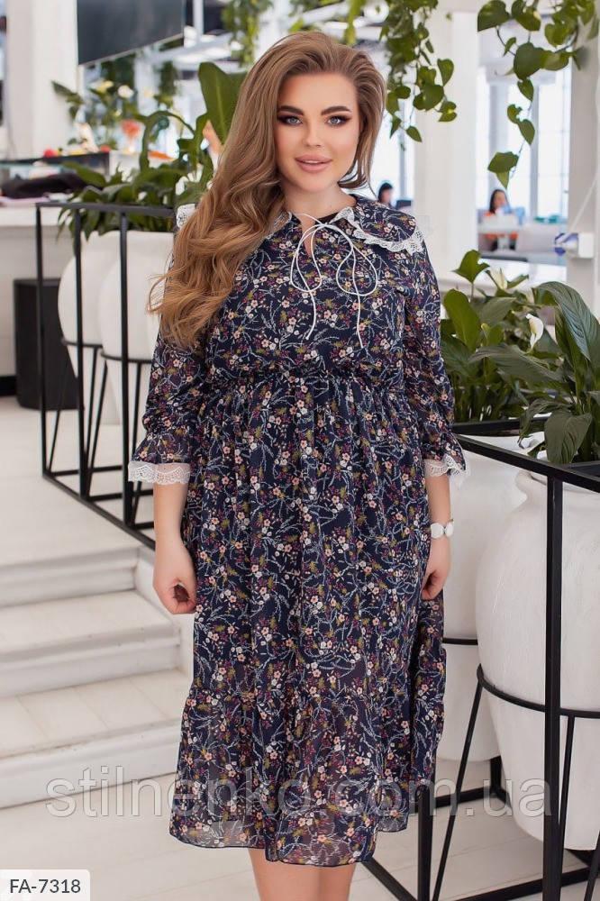 Женское шифоновое платье 48-54, 56-62