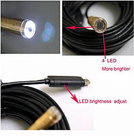 10m USB Cable Wire Tube Camera Snake Inspection 4LED