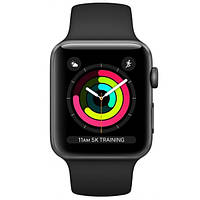 Смарт-годинник Apple Watch Series 3 38mm Space Grey Aluminum Case with Black Sport Band (MTF02)