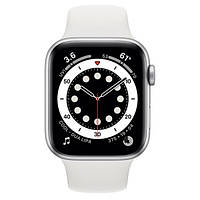 Смарт-годинник Apple Watch Series 6 44mm Silver Aluminum Case with White Sport Band (M00D3)