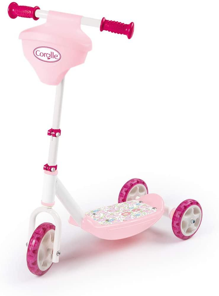 Детский самокат Corolle (3-кол, до 20 кг), Smoby, 3+ (750179)