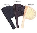 Сітка для виготовлення перук хвоста-шиньйон коричневого кольору, фото 4