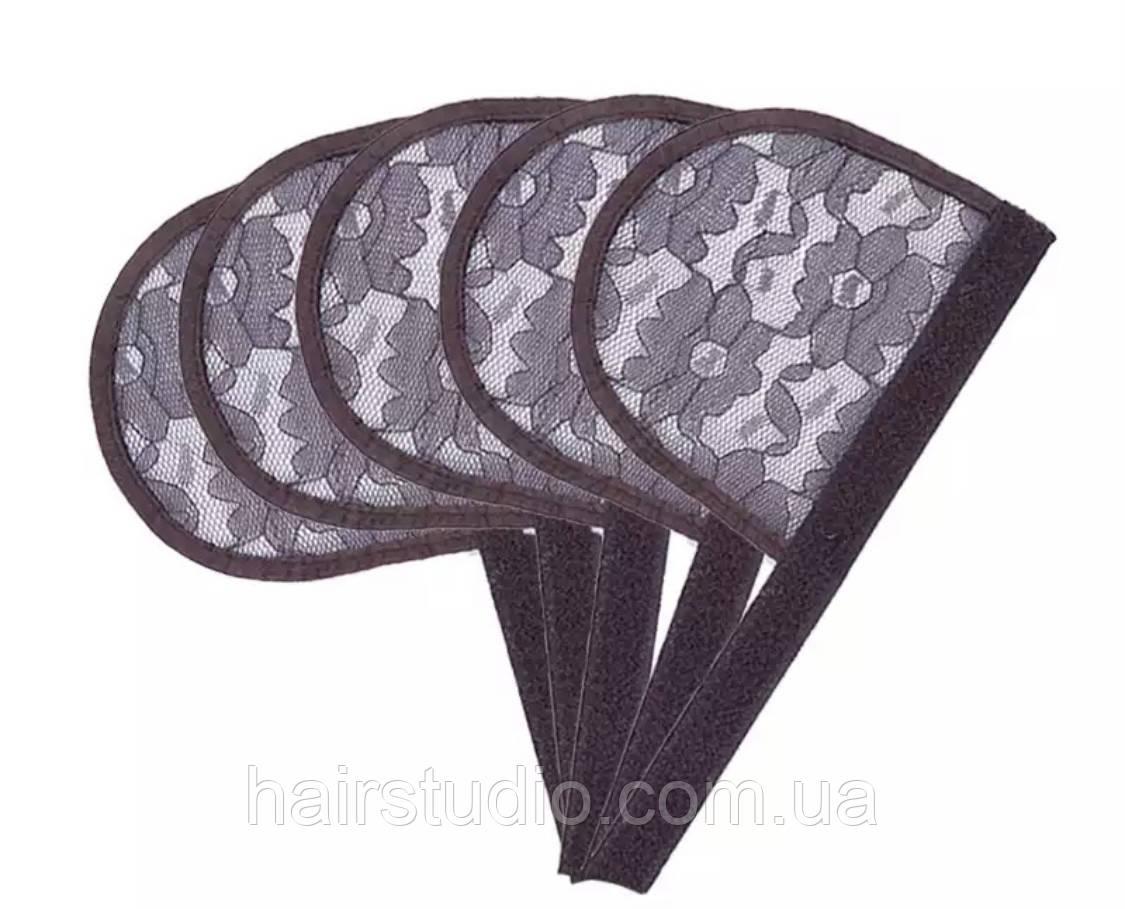 Сітка для виготовлення перук хвоста-шиньйон коричневого кольору